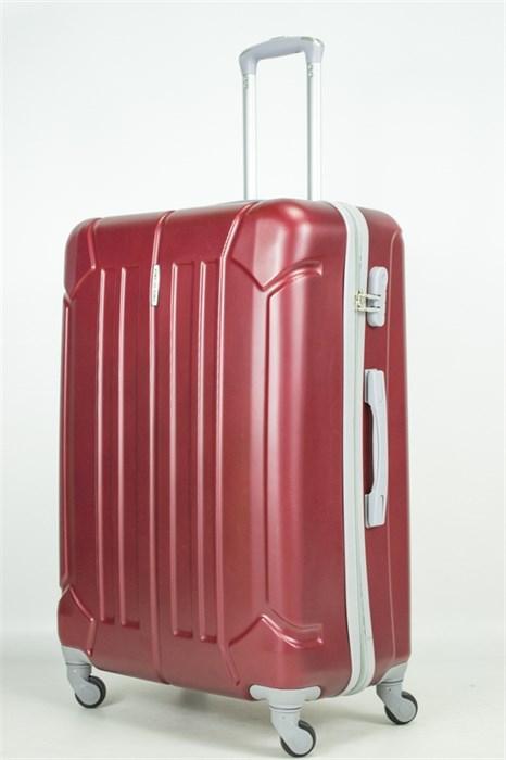 Чемодан большой ABS KK (жук) бордовый - фото 33651