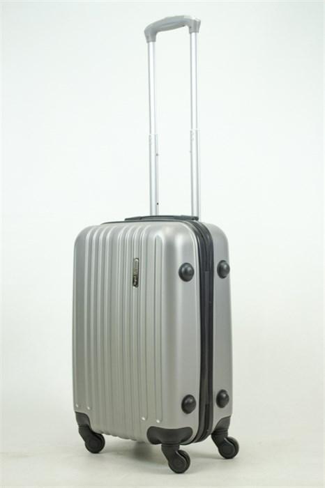 Чемодан маленький ABS Journey (8 верт  полос ) серебро (Ч) - фото 33664