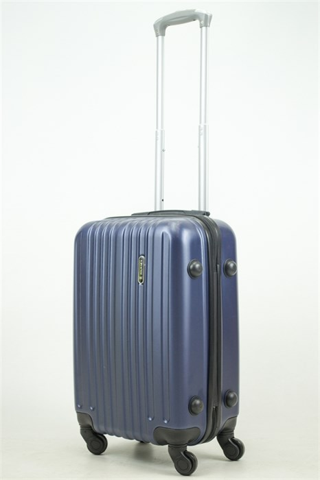 Чемодан маленький ABS Journey (8 верт  полос ) темно-синий (Ч) - фото 33670