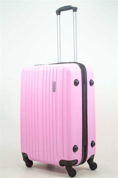 Чемодан средний ABS Journey (8 верт  полос ) розовый - фото 33682