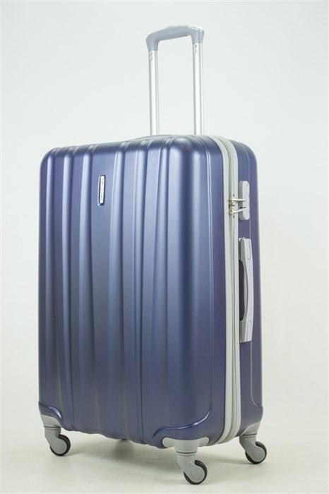 Чемодан большой ABS KK 6 полос  (С) темно-синий - фото 33727