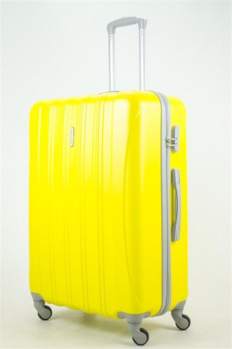 Чемодан большой ABS KK 5(4) полос  желтый (С) - фото 33733