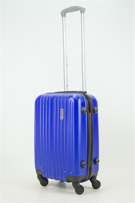 Чемодан маленький ABS Royal McQueen (8 верт полос) синий (Ч) - фото 33765