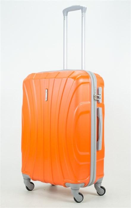 Чемодан средний ABS KK (черепаха) оранжевый - фото 33789