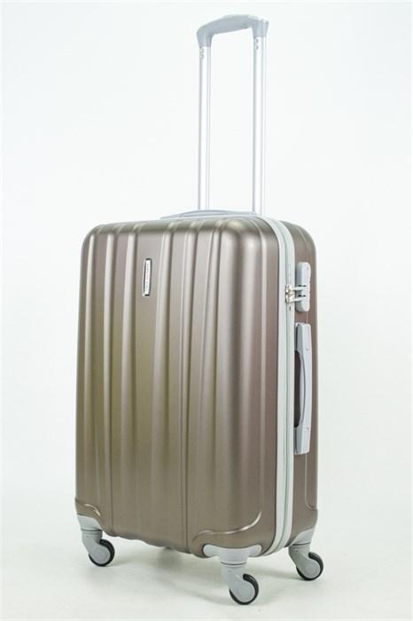 Чемодан средний ABS KK 6 полос  коричневый (С) - фото 33828