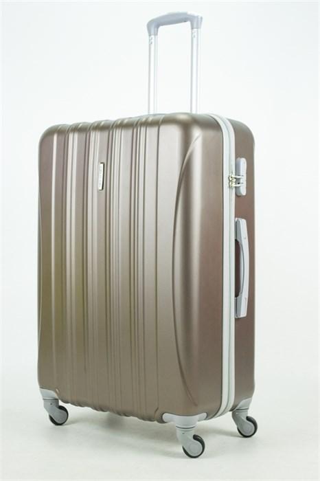 Чемодан большой ABS KK 5(4) полос  коричневый (С) - фото 33835