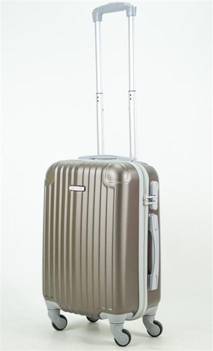 Чемодан маленький ABS KK (8 полос и уголки) коричневый (С) - фото 34023