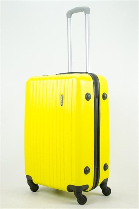 Чемодан средний ABS Journey (8 верт  полос ) желтый - фото 34035