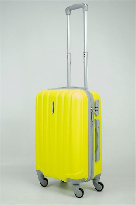 Чемодан маленький ABS KK 6 полос  желтый - фото 34150