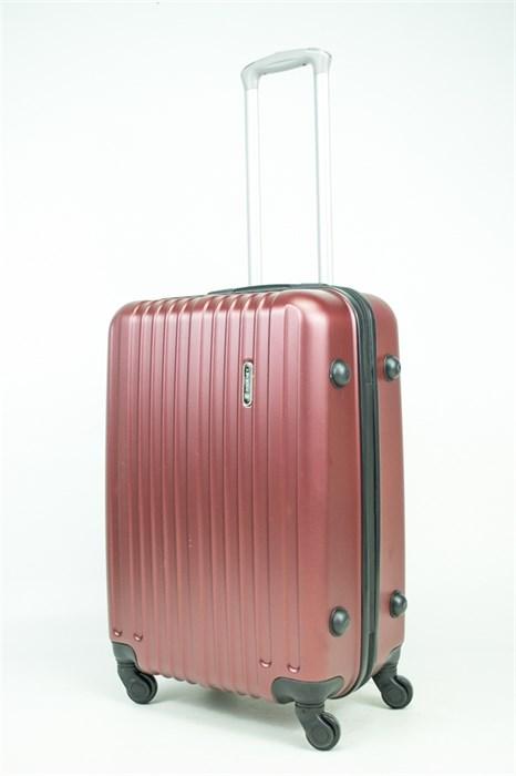Чемодан средний ABS Journey (8 верт  полос ) бордовый (Ч) - фото 34225