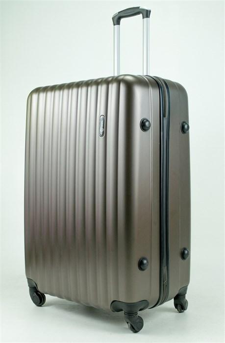 Чемодан большой ABS TT (верт  полоски) коричневый - фото 34315