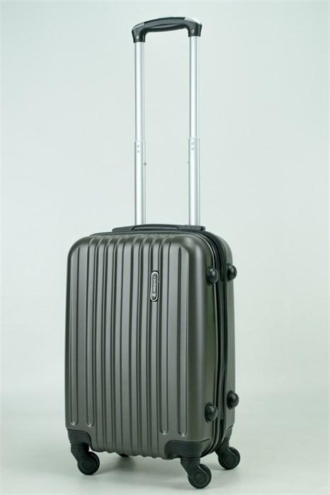 Чемодан маленький ABS (8 верт полос) темно-серый (Ч) - фото 34375