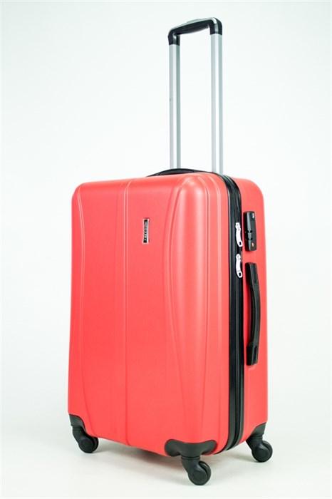 Чемодан средний ABS Freedom (трезубец) красный (Ч) - фото 34573