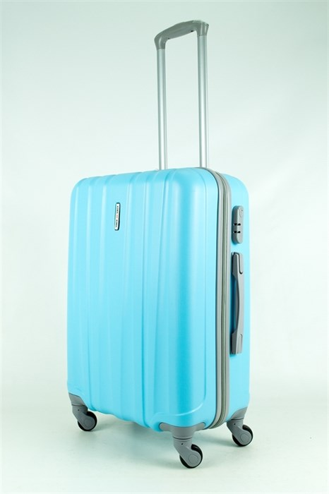 Чемодан средний ABS KK 5(4) полос  голубой (С) - фото 34591