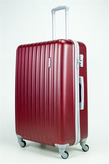 Чемодан большой ABS KK 10(11) полос  бордовый  (С) - фото 34616