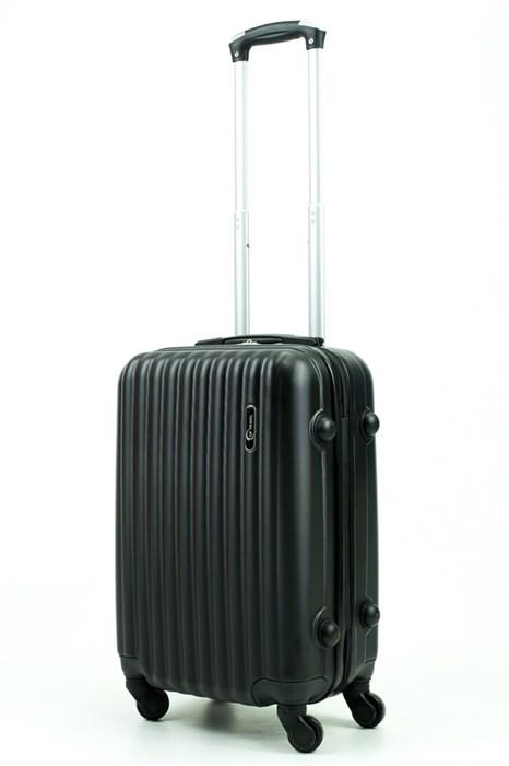 Чемодан маленький ABS Journey (8 верт  полос ) черный (Ч) - фото 34641
