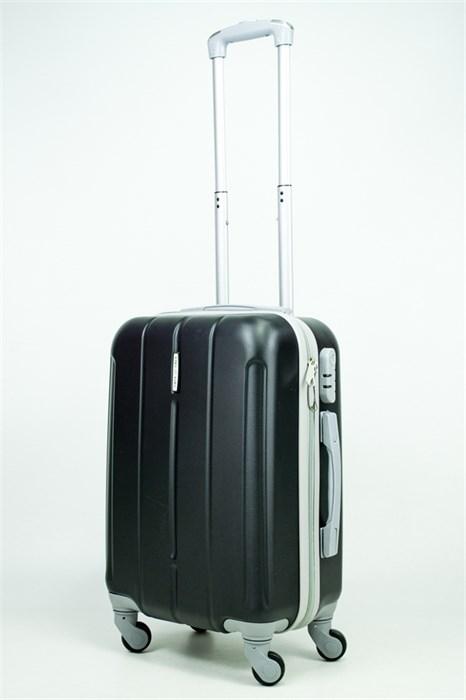 Чемодан маленький ABS KK (три полоски) черный (С) - фото 34720
