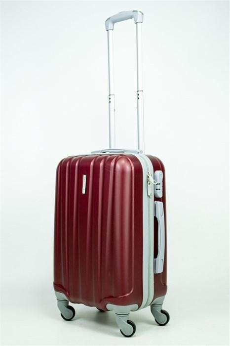 Чемодан маленький ABS KK (6 полос)  бордовый - фото 34763