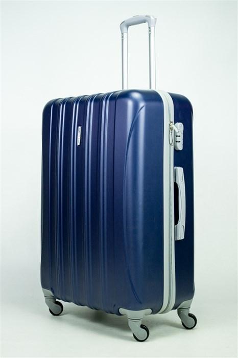 Чемодан большой ABS KK 5(4) полос  темно-синий (С) - фото 34963