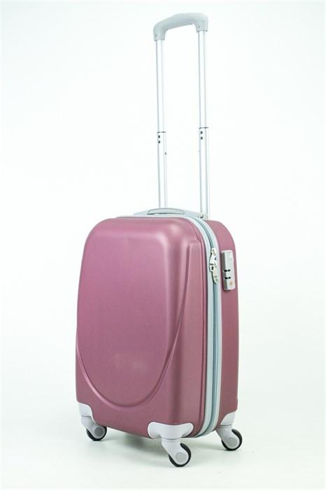 Чемодан маленький ABS 360-гр mini-smile  бордовый - фото 35287