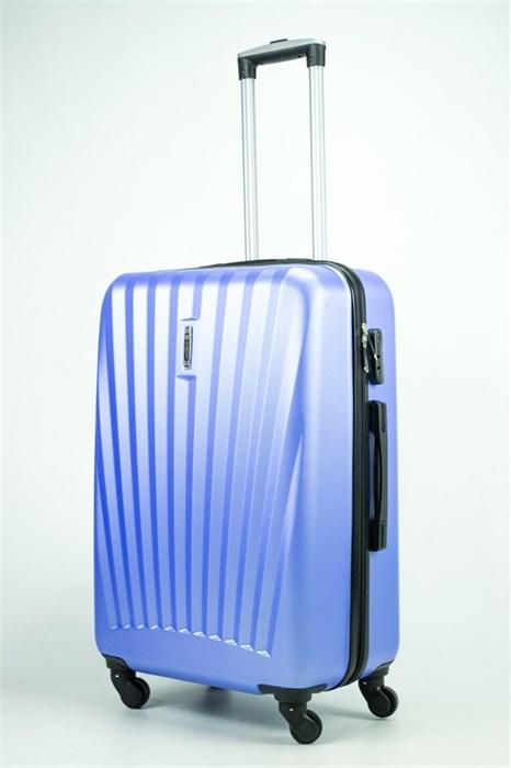 Чемодан средний ABS Hossoni (8 верт  полос ) синий - фото 35433