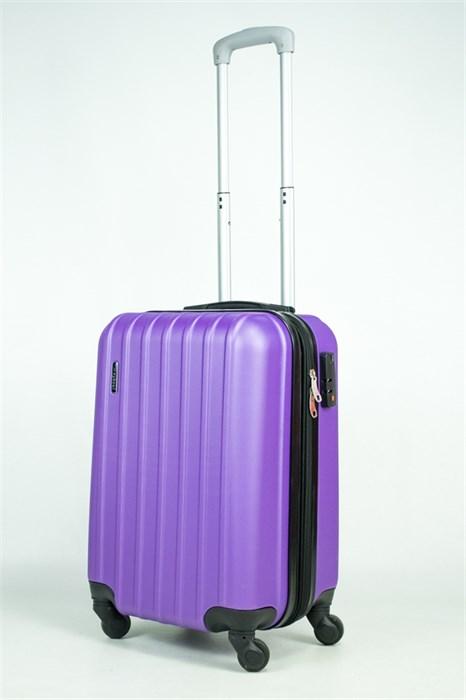 Чемодан маленький ABS Deybaul с расширением фиолетовый (Ч) - фото 35560