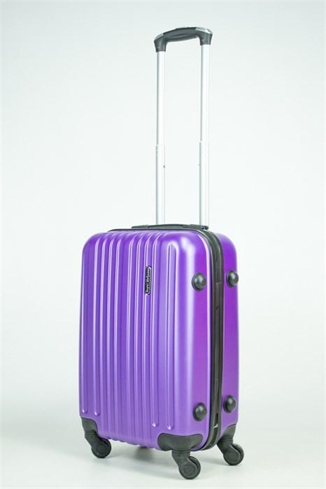 Чемодан маленький ABS Journey (8 верт  полос ) фиолетовый (Ч) - фото 35596