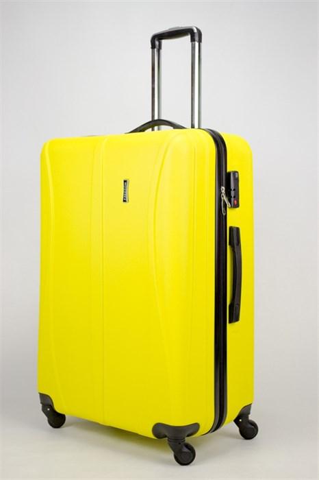 Чемодан большой ABS Freedom (трезубец) желтый (Ч) - фото 35801