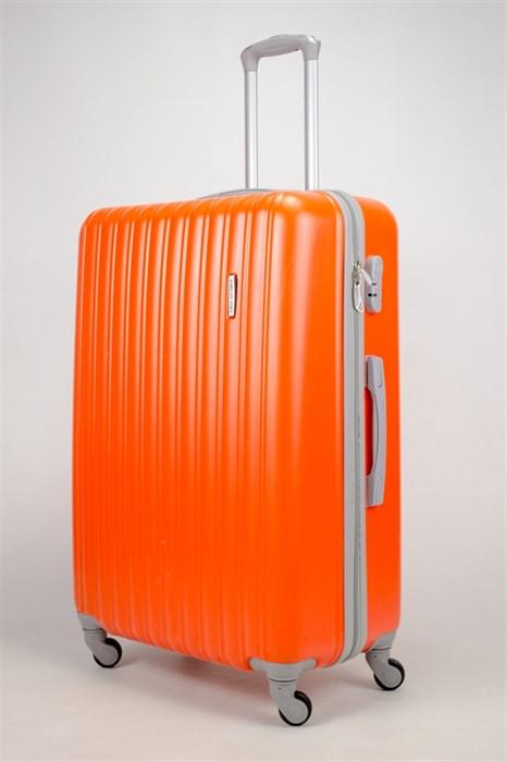 Чемодан большой ABS KK (верт полосы)  оранжевый  (СФ) - фото 35813