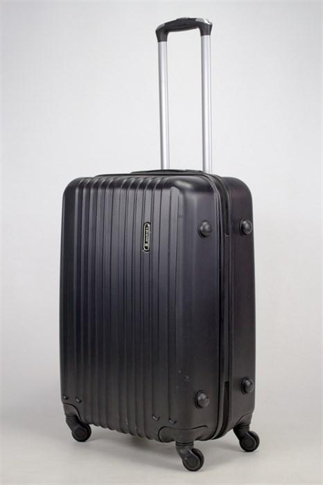 Чемодан средний ABS Journey (8 верт  полос ) черный (Ч) - фото 35850