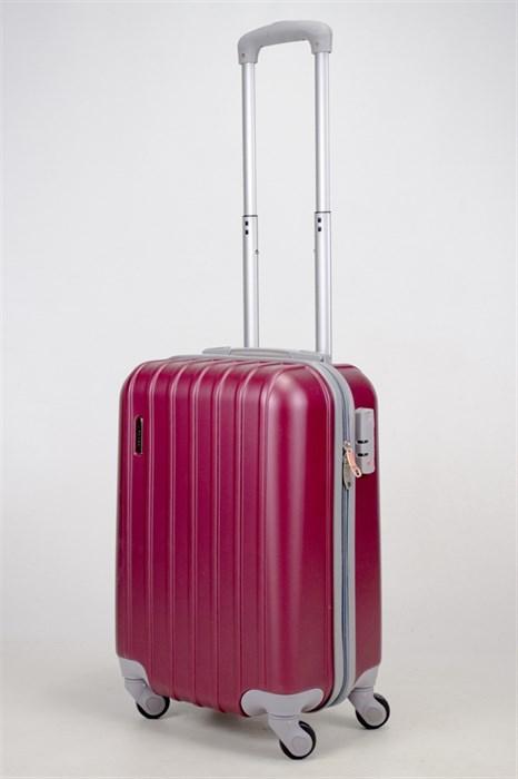 Чемодан маленький ABS Deybaul бордовый - фото 35863