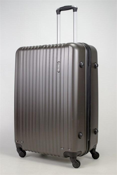Чемодан большой ABS Journey (8 верт  полос ) коричневый - фото 35988