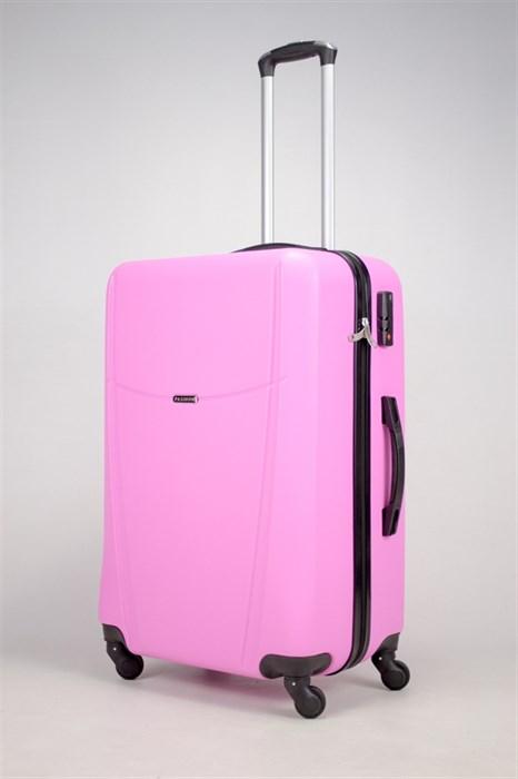 Чемодан большой ABS TT (буква Н)  розовый - фото 36308