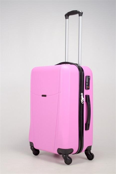 Чемодан средний ABS TT (буква Н)  розовый - фото 36321
