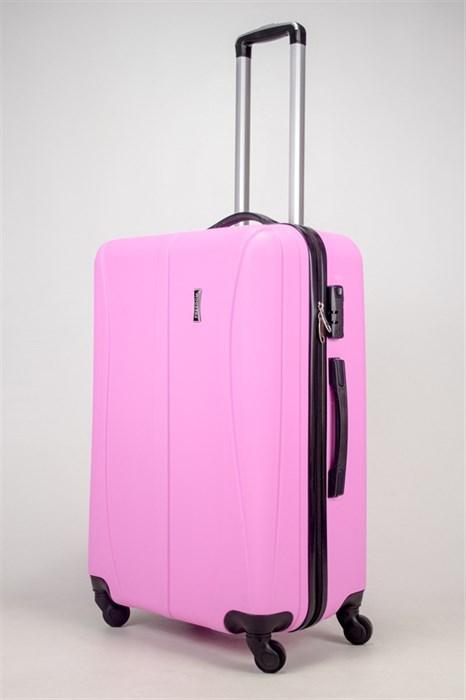 Чемодан большой ABS Freedom (трезубец) розовый (Ч) - фото 36624