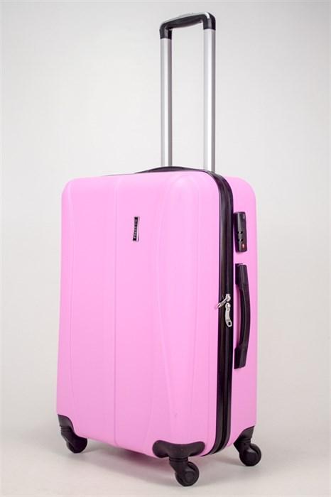 Чемодан средний ABS Freedom (трезубец) розовый (Ч) - фото 36630