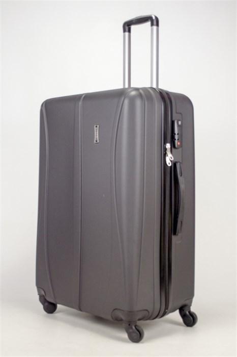 Чемодан большой ABS Freedom (трезубец) черный (Ч) - фото 36642