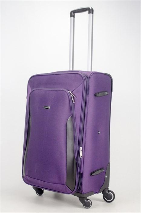 Чемодан текстильный средний Deybaul фиолетовый - фото 36796