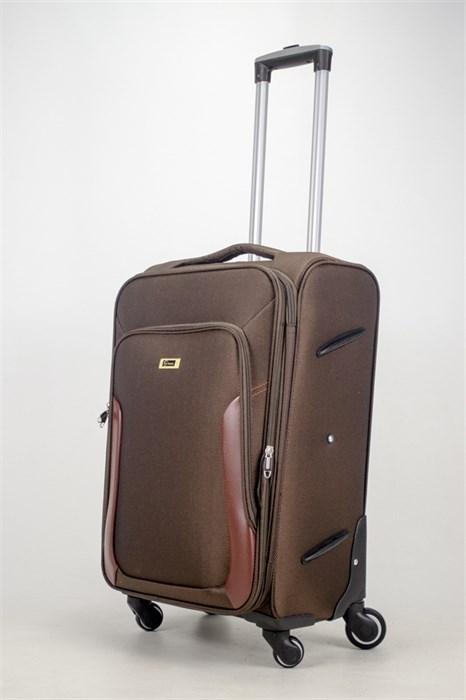 Чемодан текстильный средний TT коричневый - фото 36808