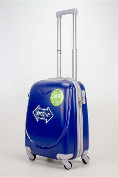 Чемодан маленький ABS 360-гр smile темно-синий - фото 36838