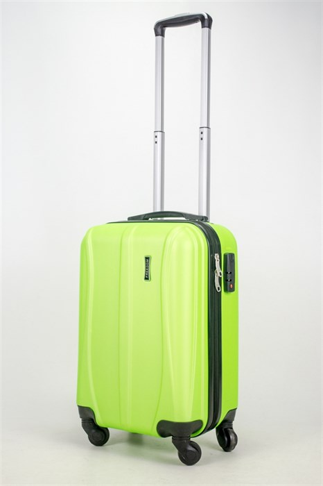 Чемодан маленький ABS Freedom (трезубец) кислотно-зеленый (Ч) - фото 36856