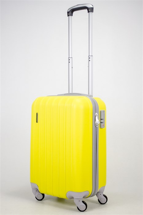 Чемодан маленький ABS Passion (7 верт. полос) желтый - фото 36868