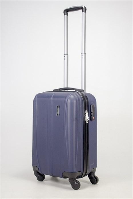 Чемодан маленький ABS Freedom (трезубец) темно-синий (Ч) - фото 36880