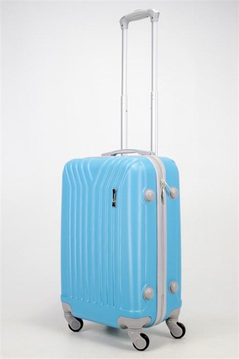 Чемодан маленький ABS TT (У-образный) голубой - фото 36930