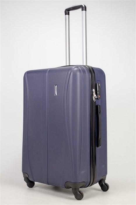 Чемодан большой ABS Freedom (трезубец) темно-синий (Ч) - фото 37025