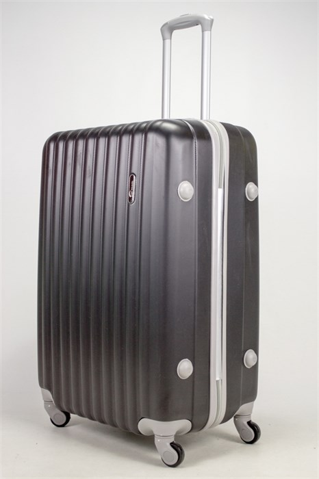 Чемодан большой ABS TT (верт  полоски) черный - фото 37098