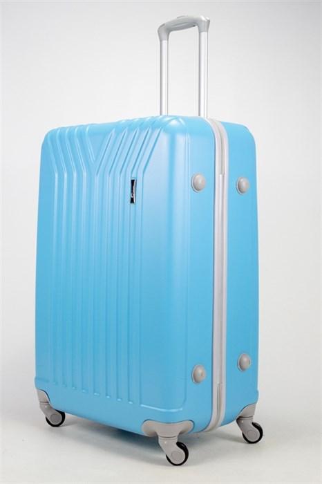 Чемодан большой ABS TT (У-образный) голубой - фото 37110