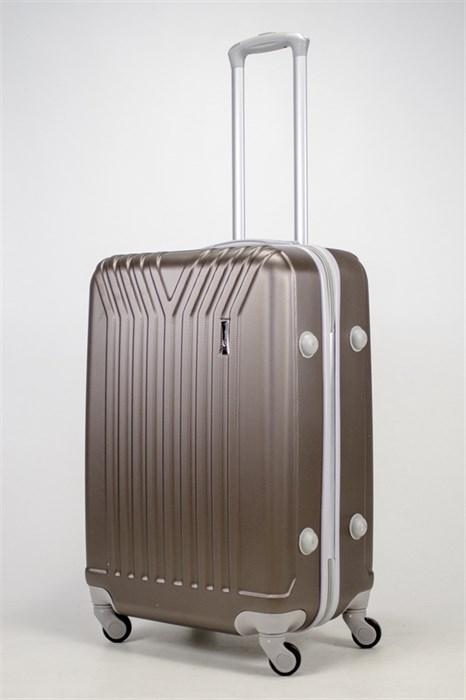 Чемодан средний ABS (У-образный) коричневый СФ - фото 37200