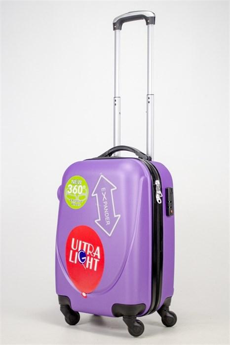 Чемодан маленький ABS 360-гр фиолетовый (Ч) - фото 37212