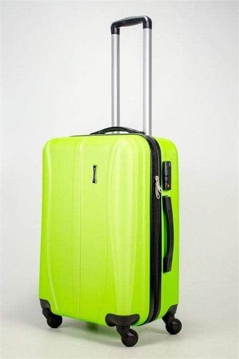 Чемодан средний ABS Freedom (трезубец) кислотно-зеленый - фото 37218